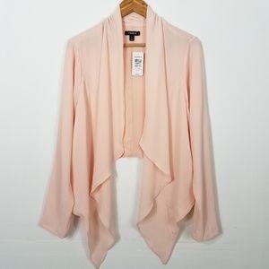 Torrid Light Pink Crepe Drape Front Blazer Plus 1X